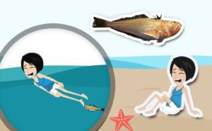 Dangerous rendezvous in the sea: weever fish