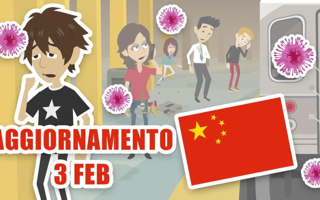 Coronavirus dalla Cina: aggiornamento 3 febbraio