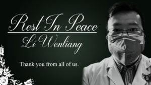 Li Wenliang, hero doctor.