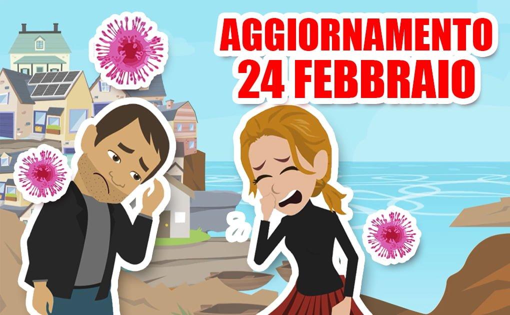 Coronavirus: aggiornamento 24 febbraio
