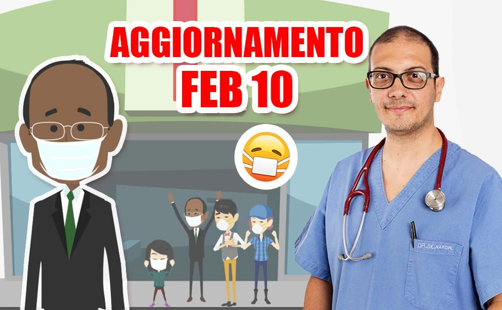 Coronavirus: aggiornamenti 10 febbraio