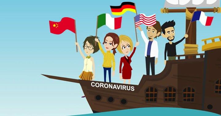 Coronavirus: confronto numerico fra stati europei