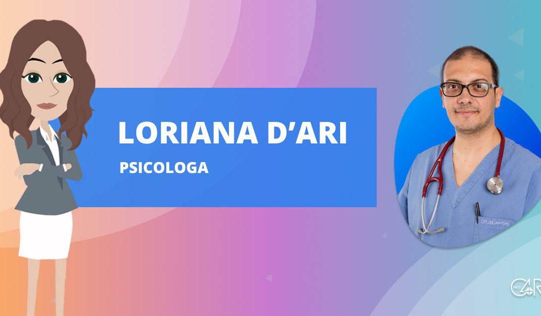 Dottoressa Loriana D'Ari, psicologa e psicoterapeuta