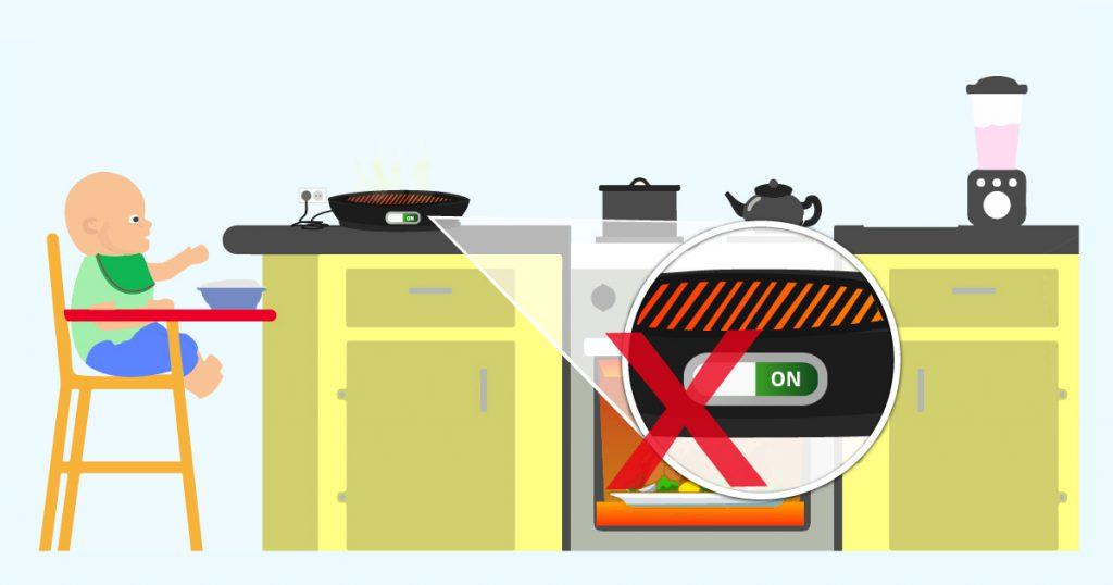 non lasciare fornelli accesi incustoditi