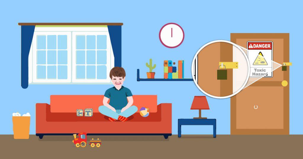 tenere lontani i bambini da sostanze tossiche