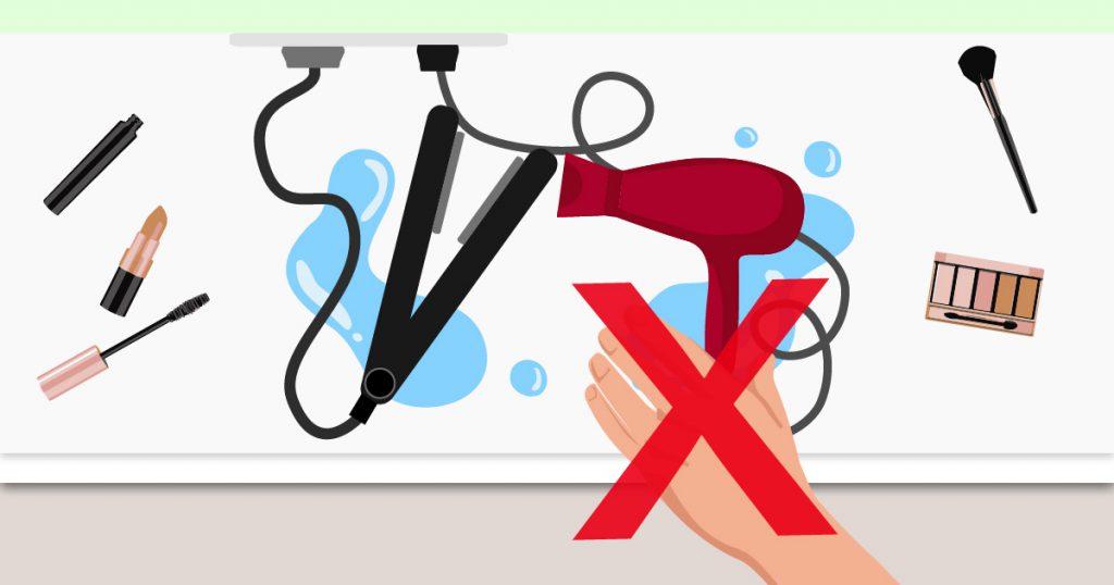 non usare elettrodomestici in bagno