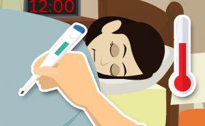 infezione febbre ustione