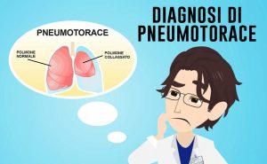 diagnosi sintomi segni esami per lo pneumotorace