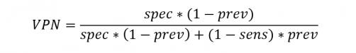 valore predittivo negativo test diagnostico formula